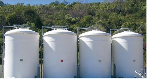 Steel bolted panel / inner liner Tanks (Cylindrical Vertical Tanks)